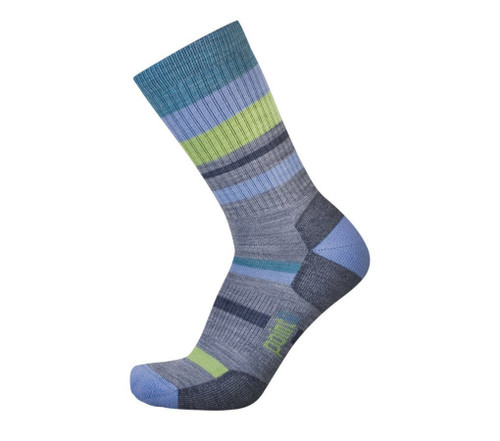 Point6 Mixed Stripe Light Crew Stone Socks