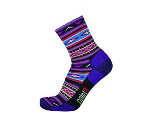 Point6 Active Life Taos Extra Light 3/4 Crew-Black Imperial Socks