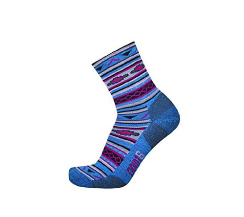 Point6 Active Life Taos Extra Light 3/4 Crew-Turquoise Gray Socks