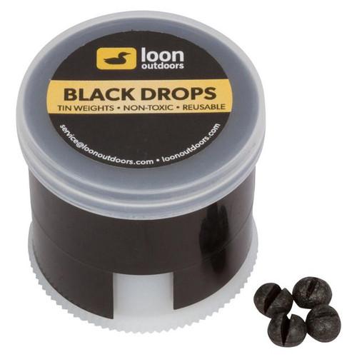 Loon Outdoors Black Drops Split Shot | Twist Pot