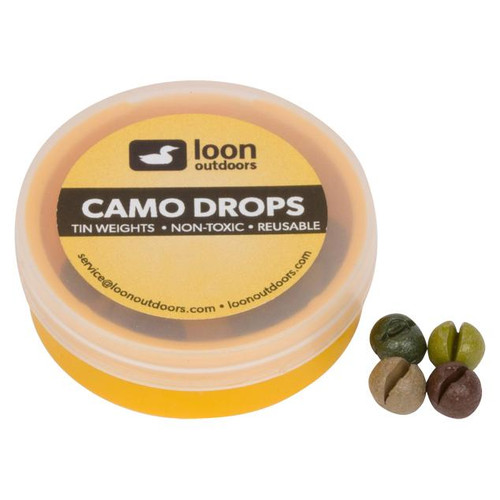 Loon Outdoors Camo Drops Split Shot | Refill Tub