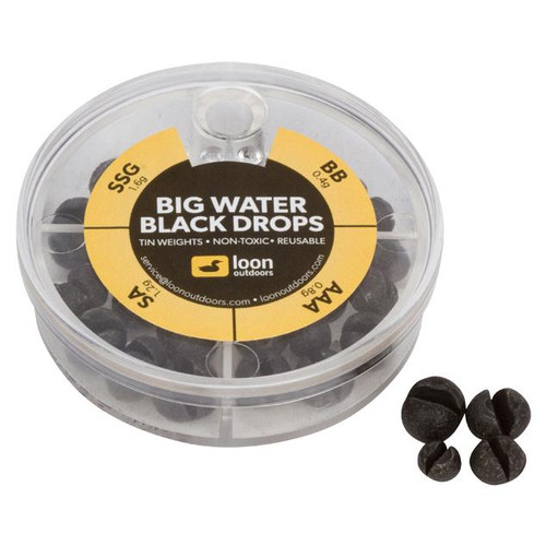 Loon Outdoors Black Drops Split Shot | 4 Division - Big Water