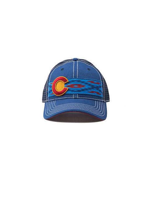 Republic of Colorado Southwest Single Stripe Hat Royal