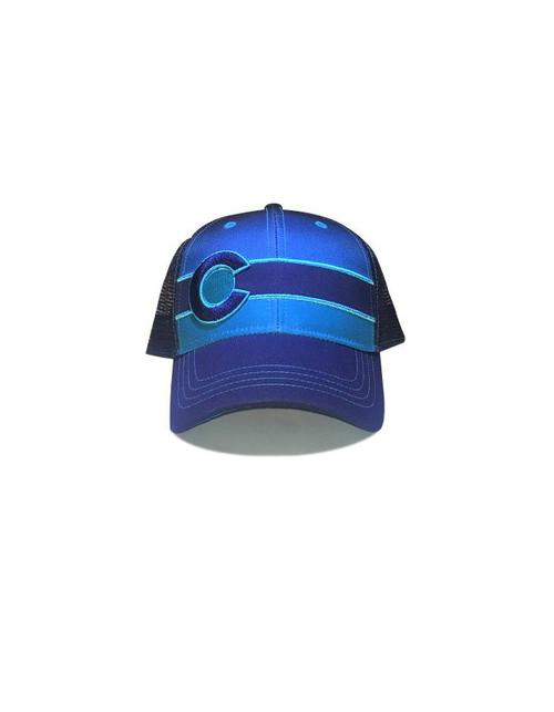 Republic of Colorado Blue Fade Single Stripe Hat