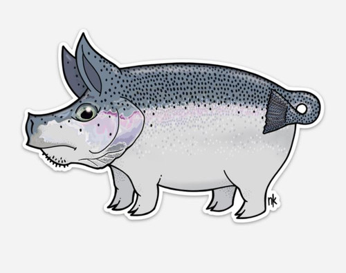 Nate Karnes Pig Steelhead Decal