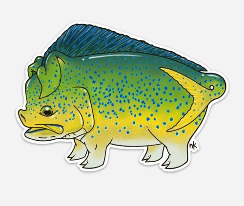 Nate Karnes Mahi Pig (Dorado Hog) Decal