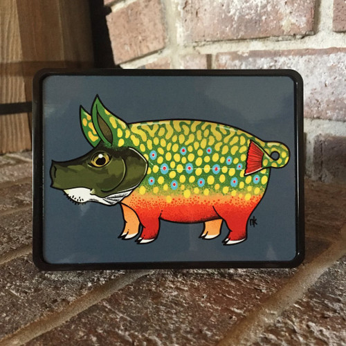 Nate Karnes Pig Brook Trout Trailer Hitch Cover