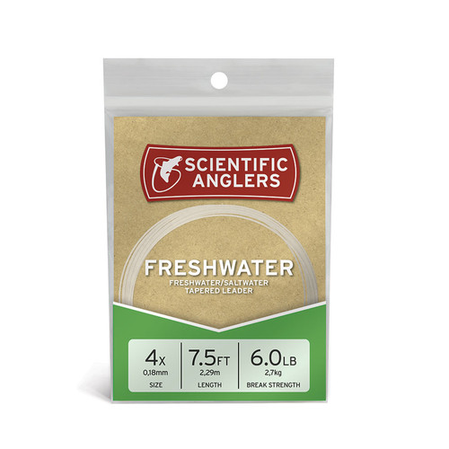 Scientific Anglers Freshwater Tapered 7 1/2 ft. Leader Single Pack
