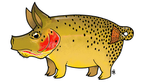 Nate Karnes Pig Cutthroat Trout Decal