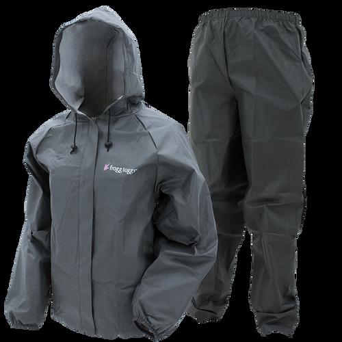 Frogg Toggs Women's Ultra-Lite Rain Suit II | XX-Large - Carbon Black