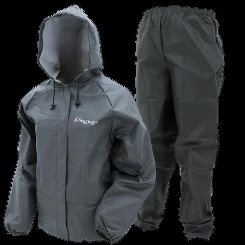 Frogg Toggs Women's Ultra-Lite Rain Suit II   XX-Large - Carbon Black