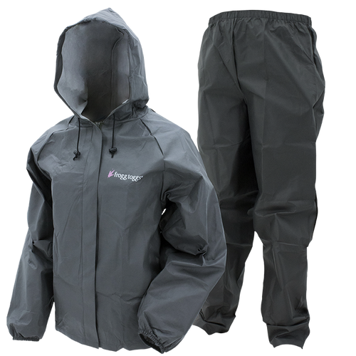 Frogg Toggs Women's Ultra-Lite Rain Suit II | XX-Large - Carbon Black
