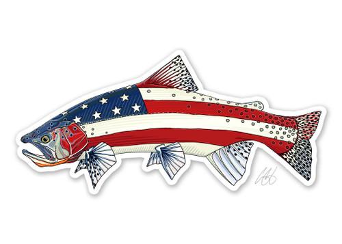 Casey Underwood USA Cutthroat Trout Decal Sticker