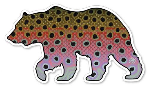 Casey Underwood Bear Rainbow Decal Sticker