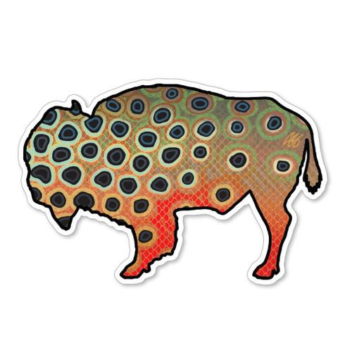 Casey Underwood Bison Cutthroat Decal Sticker