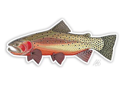 Casey Underwood Greenback Cutthroat Trout Decal Sticker