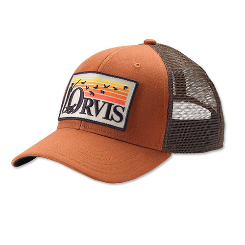 Orvis Retro Flush Trucker Hat - Burnt Orange