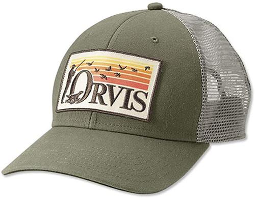Orvis Retro Flush Trucker Hat - Olive