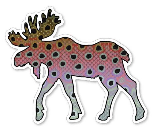 Casey Underwood Moose Rainbow Trout Decal Sticker