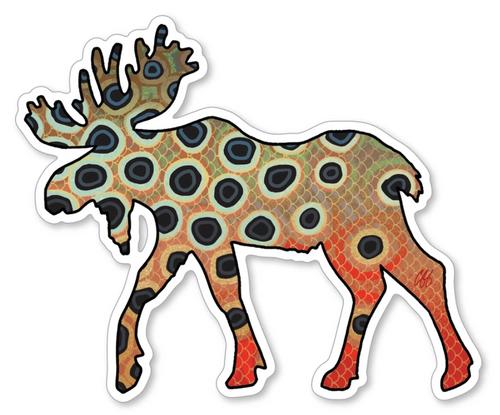 Casey Underwood Moose Cutthroat Trout Decal Sticker