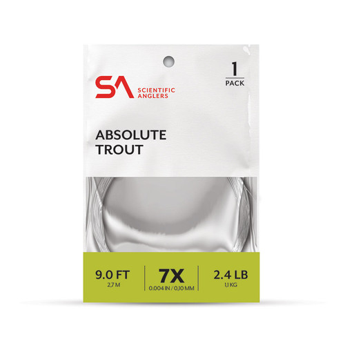 Scientific Anglers Absolute Trout Leader 1-Pack 7.5'
