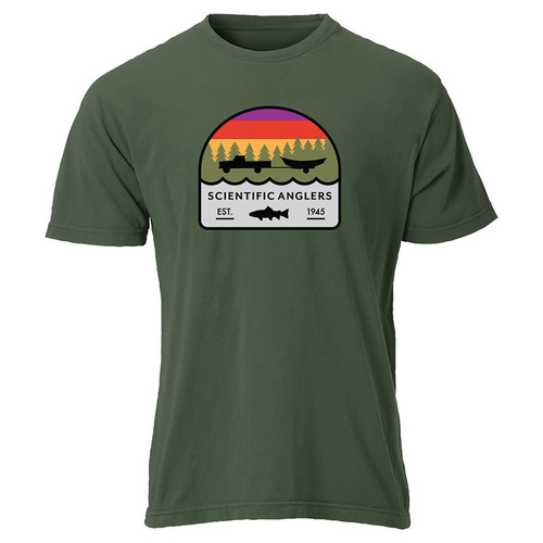 Umpqua Olive Truck/Drift Boat T-Shirt