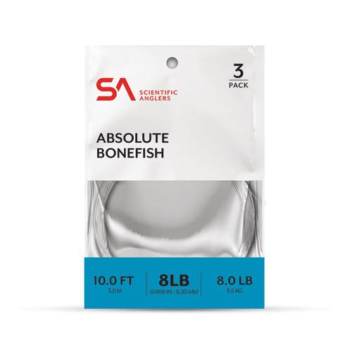 Scientific Anglers Absolute Bonefish Leader 3-Pack 10'