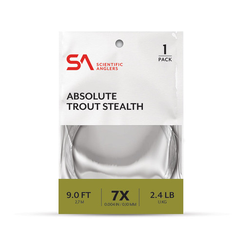 Scientific Anglers Absolute Stealth Leader 1-Pack 9'