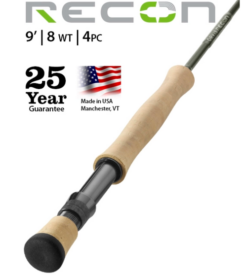 Orvis Recon 4 Piece Fly Rod   9ft 0in 8WT