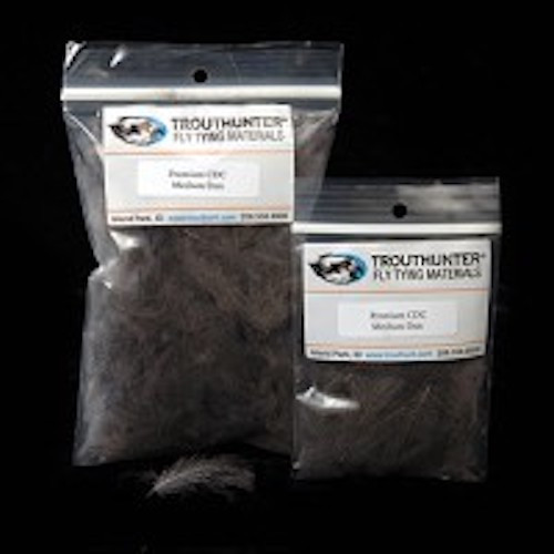 0.5g TroutHunter Premium Dyed CDC Fly Tying Caddis Green
