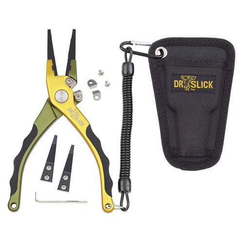 """Dr. Slick Squall Fishing Plier 7-1/2"""" Aluminum Frame Tungsten Carbide Cutters"""