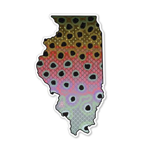 Casey Underwood Illinois Rainbow Decal Sticker