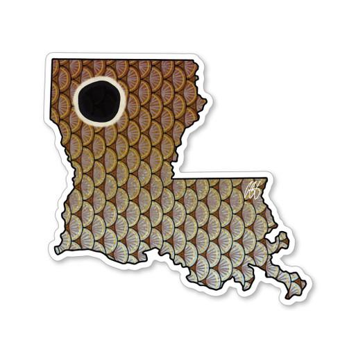 Casey Underwood Louisiana Redfish Decal Sticker