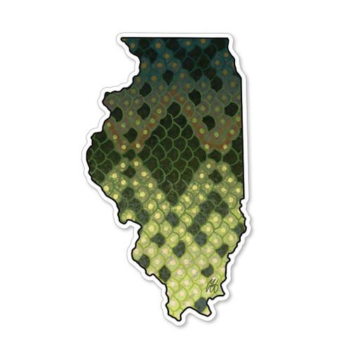 Casey Underwood Illinois Largemouth Decal Sticker