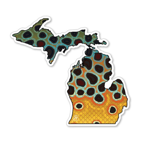 Casey Underwood Michigan Brown Trout Decal Sticker