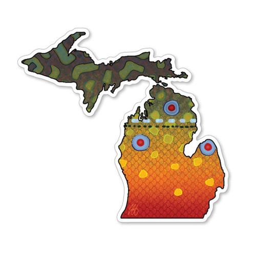 Casey Underwood Michigan Brook Trout Decal Sticker