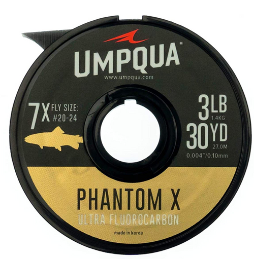 Umpqua Phantom X Fluorocarbon Fly Fishing Tippet 30YDS