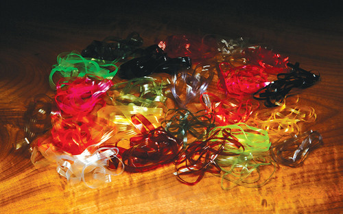 Hareline Scud Back Assorted Sizes and Colors - Fly Tying