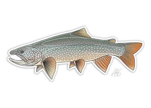 Casey Underwood Lake Trout Decal Sticker