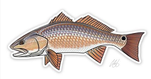 Casey Underwood Redfish Decal Sticker