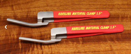 Hareline 1.5 Inch Long Material Clamp Set
