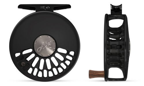 Abel TR Fly Reel - Basic Black - 2/3 WT with Rosewood Handle