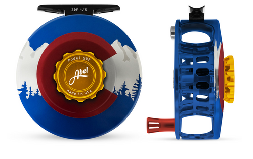 Abel SDF Fly Reel - Colorado Edition - 4/5 WT with Aluminum Red Handle