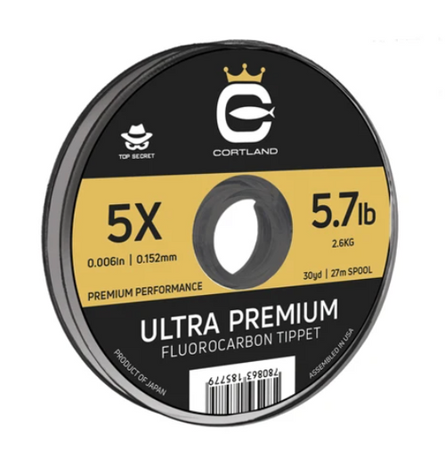 Cortland Ultra Premium Fluorocarbon Tippet 30yd - Top Secret