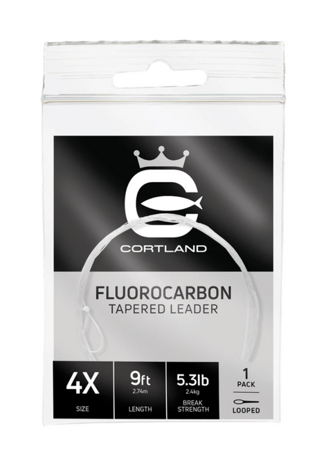 Cortland 9ft Clear Fluorocarbon Tapered Leader 1pk