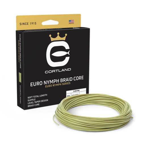 Cortland Euro Nymph Braid Core .022 Level Sage Green Fly Line