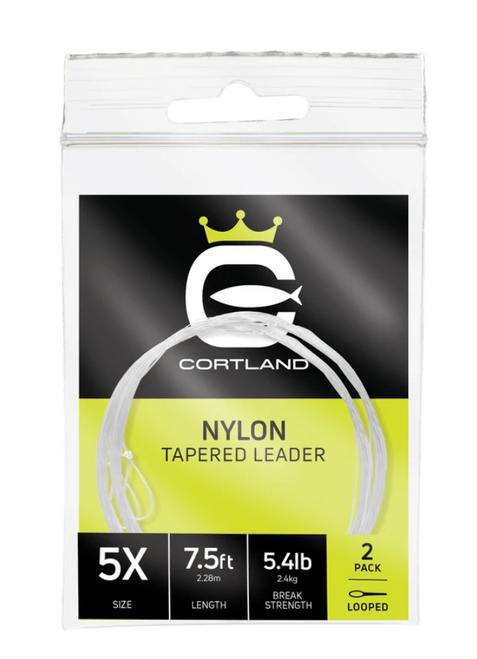 Cortland 7.5ft Looped Nylon Tapered Leader 2pk