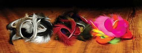 Hareline Strip Combo Natural Colors with Black #1