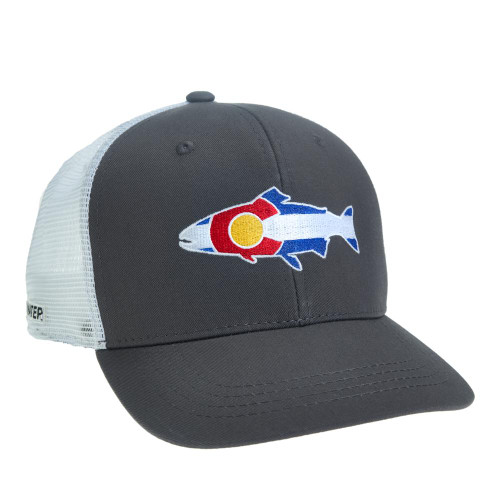 Rep Your Water Colorado Flag Trout Hat - High Profile