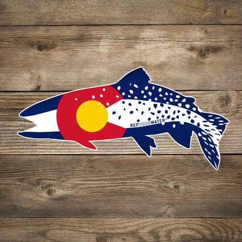 Rep Your Water Colorado Clarkii Sticker - Large